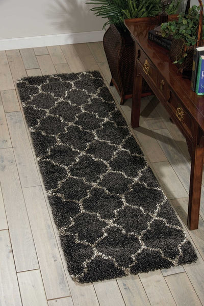 Runner Nourison Shags Shag Rugs Amore Collection By Nourison Amor2 Charcoal Unique Shapes and Sizes