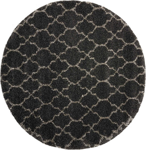 Round Nourison Shags Shag Rugs Amore Collection By Nourison Amor2 Charcoal Unique Shapes and Sizes