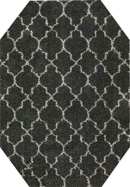 EOCT Nourison Shags Shag Rugs Amore Collection By Nourison Amor2 Charcoal Unique Shapes and Sizes