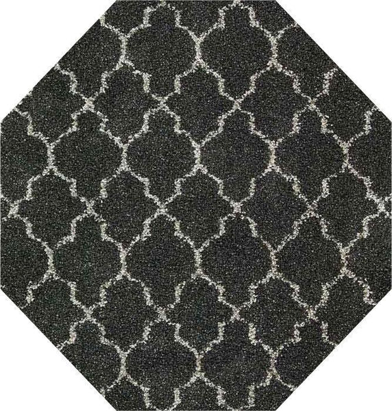 OCT Nourison Shags Shag Rugs Amore Collection By Nourison Amor2 Charcoal Unique Shapes and Sizes