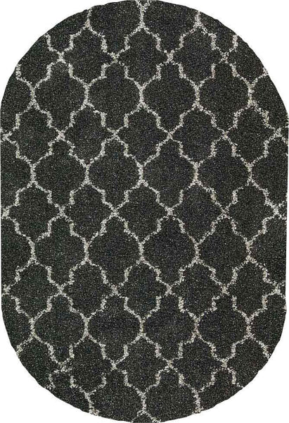 OVAL Nourison Shags Shag Rugs Amore Collection By Nourison Amor2 Charcoal Unique Shapes and Sizes
