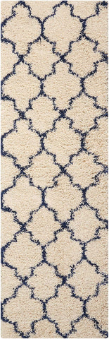Runner Nourison Shag Rugs Amore Collection By Nourison Amor2 Ivory-Blue Unique Shapes and Sizes