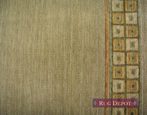 Nourison Stair Runner 30 in x 1 ft Cosmopolitan Wool Sage Stair Runner C57R-R72 30 inch Sold By the Foot