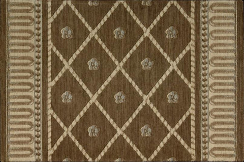 Nourison Stair Runner Ashton House Brown Stair Runner Trellis AS03-MINK - 27in- Sold By the Foot