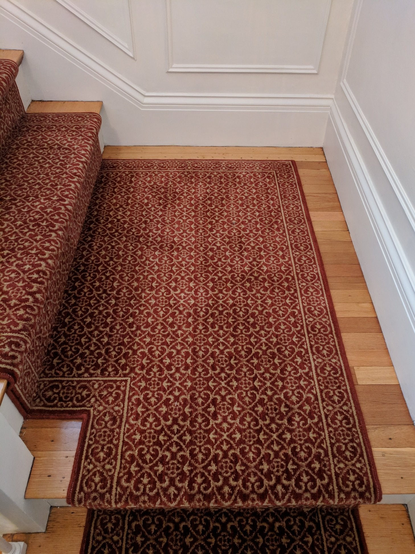 Nourison Stair Runner Chateau Riems RM21 Ruby Stair Runners 27in Sold By The Foot