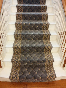 Nourison Stair Runner Cosmopolitan Shadolore C26R-PLT 30 inch Stair Runner Sold By the Foot