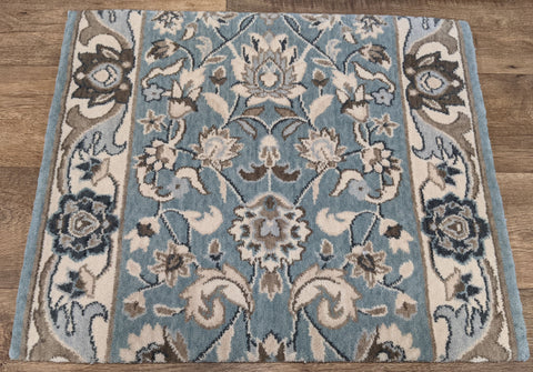Nourison Stair Runner Grand Parterre  PT01-Lt Blue Stair Runner 30in and 41in Sold By the Foot