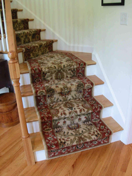 Nourison Stair Runner Grand Parterre  Stair Runner PT04-BEIGE 30 Inch Sold By the Foot