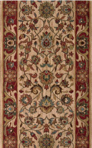 Nourison Stair Runner Grand Parterre Wool Stair Runner PT01-Natural 30In Sold By the Foot