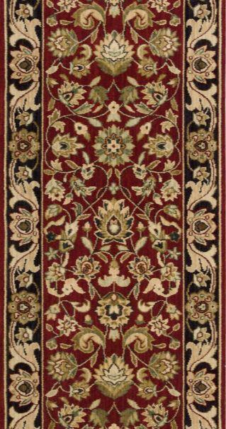 Nourison Stair Runner Grand Parterre Wool Stair Runner PT01-Red 30In Sold By the Foot