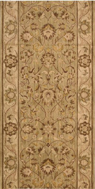 Nourison Stair Runner Grand Parterre Wool Stair Runner PT01-Sage 30In Sold By the Foot