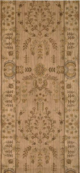 Nourison Stair Runner Grand Parterre Wool Stair Runner PT02-Brush 30In Sold By the Foot