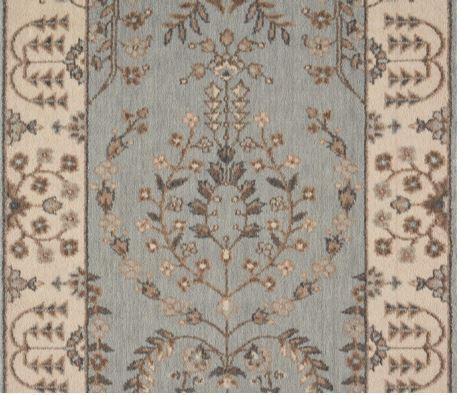 Nourison Stair Runner Grand Parterre Wool Stair Runner PT02-Coastal 30In Sold By the Foot