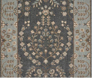 Nourison Stair Runner Grand Parterre Wool Stair Runner PT02-Graphite 30In Sold By the Foot