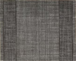 Nourison Stair Runner Grand Textures Wool Stair Runner PT44-STEEL - 30 inch  Grey Sold By the Foot