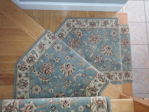 Nourison Stair Runner Sultana Blue Stair Runner SU21SAPPHIRE - 27 inch  Sold By the Foot