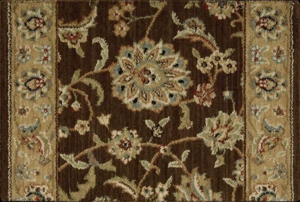 Nourison Stair Runner Sultana Brown Stair Runner SU21BROWNSTONE-27 inch Sold By the Foot