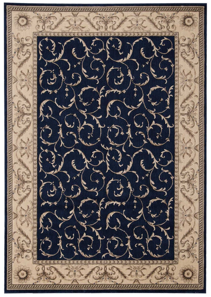 Nourtex Area Rugs Somerset Area Rugs St-02 Navy and Stair Runner By Nourtex