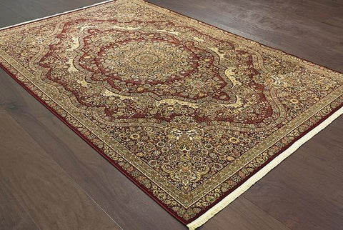 Oriental Weavers Area Rugs 3.10 x 5.5 Masterpiece Red Area Rug 8022R  2 Million PT Fine Polypropylene