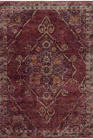Oriental Weavers Area Rugs Andorra Area Rugs 7135e Red Nylon/Poly Blend Made in USA