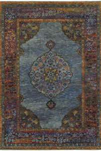 Oriental Weavers Area Rugs Andorra Area Rugs 7139a Blue Nylon/Poly Blend Made in USA