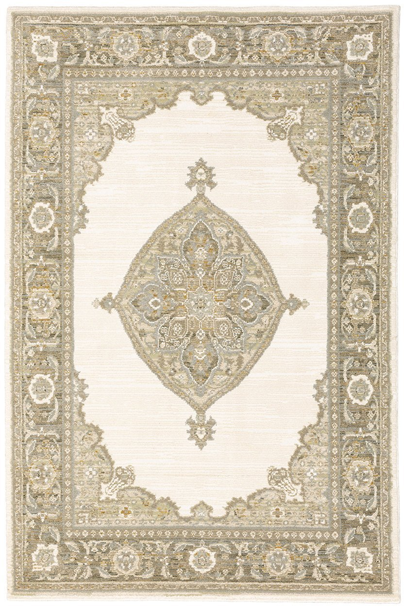 Oriental Weavers Area Rugs Andorra Area Rugs 7939d Ivory Nylon/Poly Blend Made in USA