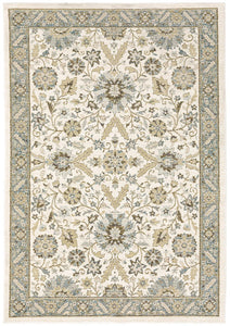 Andorra Area Rugs 8918i Ivory Nylon/Poly Blend Made in USA