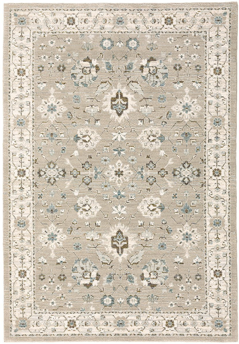 Oriental Weavers Area Rugs Andorra Area Rugs 8930l Beige Nylon/Poly Blend Made in USA