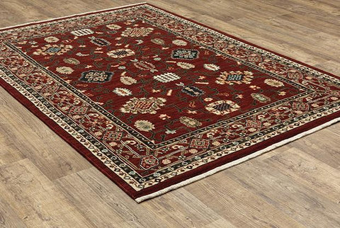Oriental Weavers Area Rugs Lilihan Area Rugs 43S Red Geometric Wool-Nylon Blend In 8 Sizes