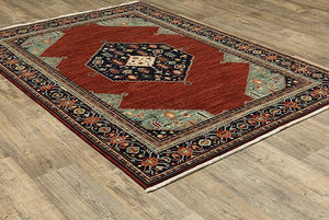 Oriental Weavers Area Rugs Lilihan Area Rugs 5503m Red Geometric Wool-Nylon Blend In 8 Sizes