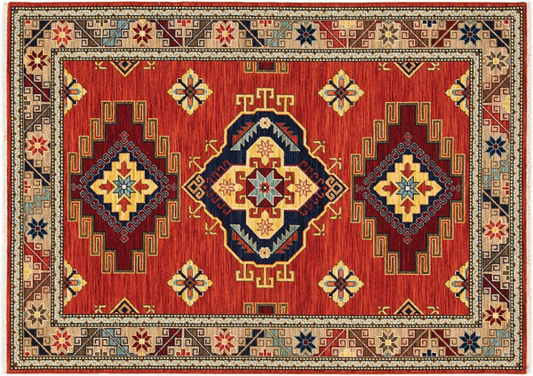 Oriental Weavers Area Rugs Lilihan Area Rugs 5504p Red Geometric Wool-Nylon Blend In 8 Sizes
