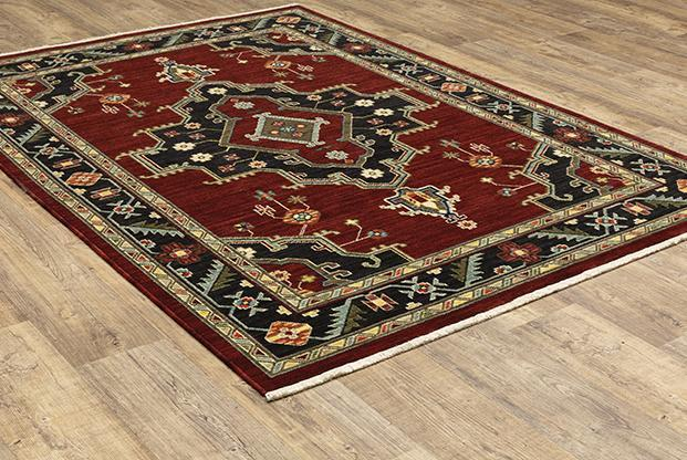 Oriental Weavers Area Rugs Lilihan Area Rugs 91R Red Geometric Wool-Nylon Blend In 8 Sizes