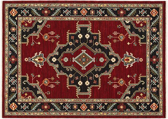 Oriental Weavers Area Rugs Lilihan Area Rugs 92R Red Geometric Wool-Nylon Blend In 8 Sizes