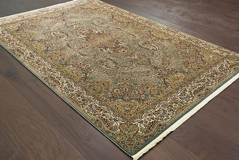 Oriental Weavers Area Rugs Masterpiece Green Area Rug 502L  2 Million PT Fine Polypropylene