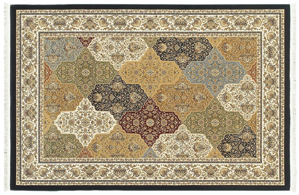 Oriental Weavers Area Rugs Masterpiece Multi Navy Area Rug 1331X  2 Million PT Fine Polypropylene