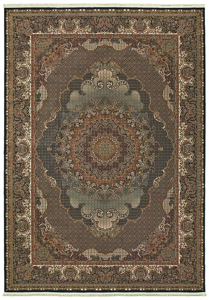 Oriental Weavers Area Rugs Masterpiece Multi Navy Area Rug 5330B  2 Million PT Fine Polypropylene