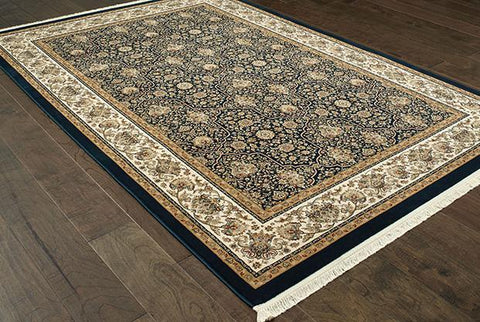 Oriental Weavers Area Rugs Masterpiece Navy Area Rug 1331B  2 Million PT Fine Polypropylene