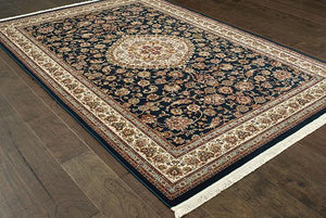Oriental Weavers Area Rugs Masterpiece Navy Area Rug 33B  2 Million PT Fine Polypropylene