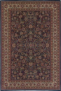 Oriental Weavers Area Rugs OW Rugs Ariana Area Rugs 113b Navy Polypropylene Made In USA