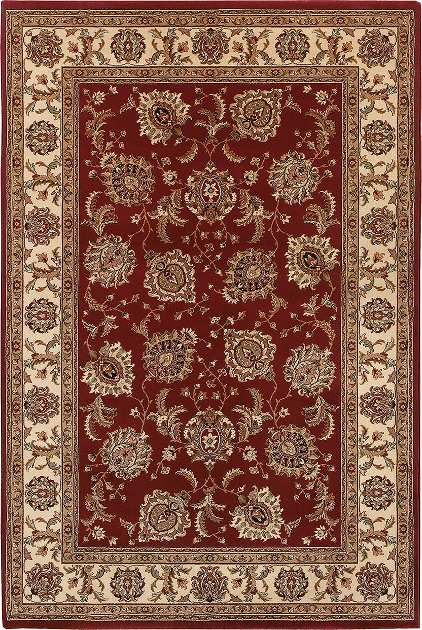Oriental Weavers Area Rugs OW Rugs Ariana Area Rugs 117c Red-Ivory Polypropylene Made In USA