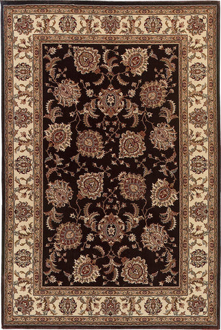 Oriental Weavers Area Rugs OW Rugs Ariana Area Rugs 117d Black-Ivory Polypropylene Made In USA