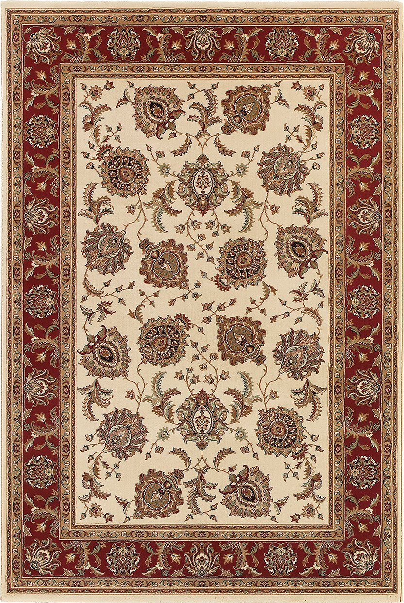Oriental Weavers Area Rugs OW Rugs Ariana Area Rugs 117j Ivory-Red Polypropylene Made In USA