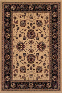 Oriental Weavers Area Rugs OW Rugs Ariana Area Rugs 130_7 Beige-Black Polypropylene Made In USA