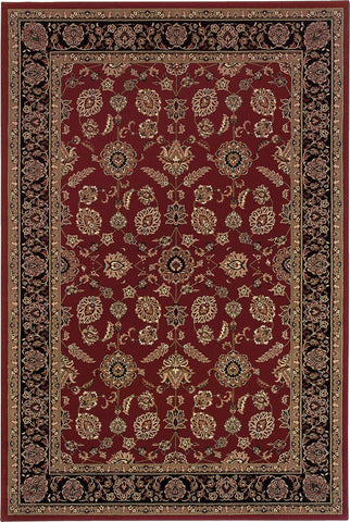 OW Rugs Ariana Area Rugs 271c Red-Black Polypropylene Made In USA
