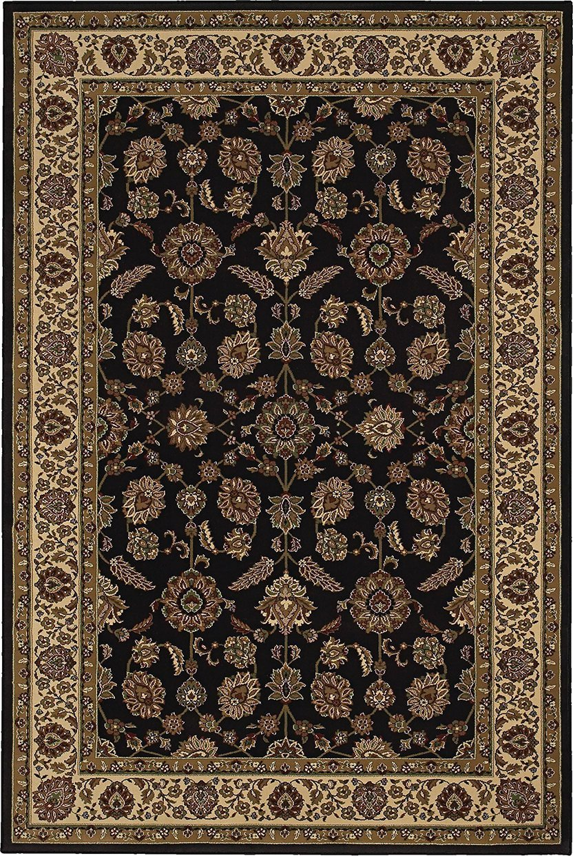 Oriental Weavers Area Rugs OW Rugs Ariana Area Rugs 271d Black-Ivory Polypropylene Made In USA