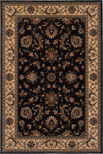 Oriental Weavers Area Rugs OW Rugs Ariana Area Rugs 311k Black Ivory Polypropylene Made In USA