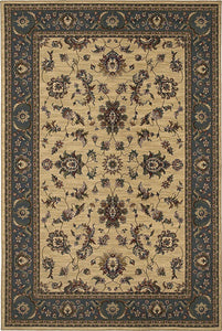 Oriental Weavers Area Rugs OW Rugs Ariana Area Rugs 311z Beige-Blue Polypropylene Made In USA