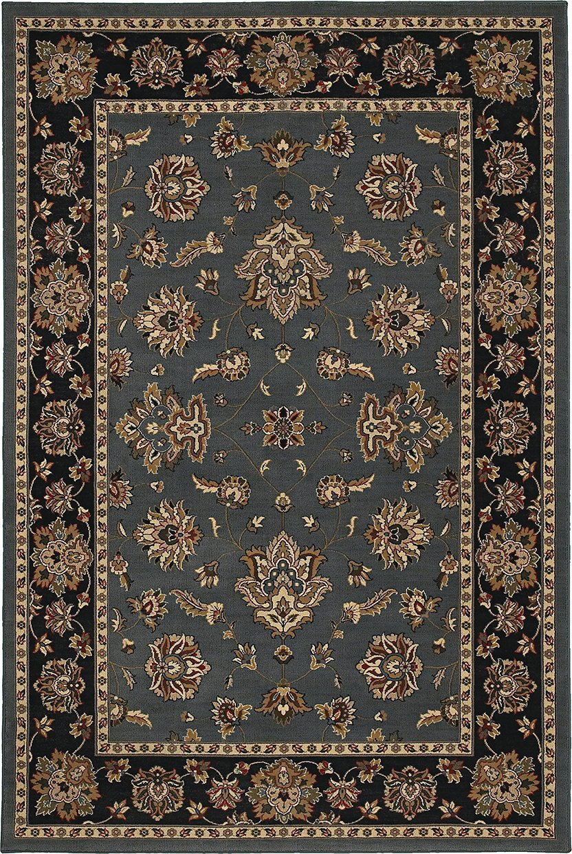 Oriental Weavers Area Rugs OW Rugs Ariana Area Rugs 623h Blue-Black Polypropylene Made In USA