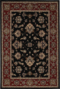 Oriental Weavers Area Rugs OW Rugs Ariana Area Rugs 623m Black-Rust Polypropylene Made In USA