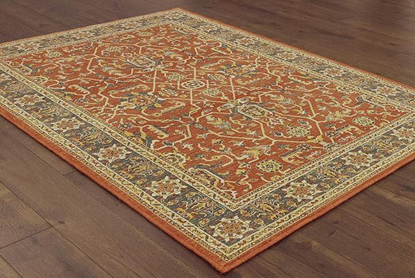 Oriental Weavers Area Rugs Toscana Area Rugs By OW Rugs 9537c Rust Rug From Egypt